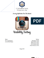 Instagram Usability Testing