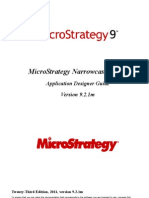 Microstrategy Narrow Cast Application Designer 921m
