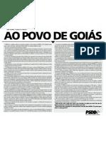 AO POVO DE GOIÁS