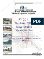Metro FY 2011 Financial Plan Southeast/Purple Line
