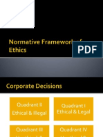 Normative Framework of Ethics