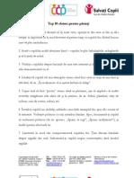 Top 10 Sfaturi Pentru Parinti