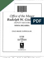Box 02-14-004 Folder 0136, Jan 12, 1996 (Advancing a Child Abuse Training Curriculum)