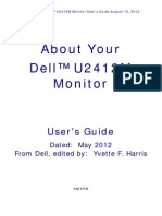 Dell™ U2412M Monitor User's Guide About Your Monitor August 2012