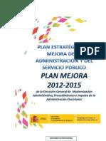 Plan Estratégico de Mejora de la Administración y el Servicio Público 2012-2015