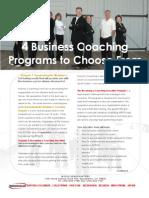 4 Business Coaching Programs