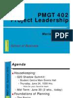 PMGT 402 Week 7 W10 Planning