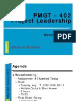 PMGT 402 103 W15 Leadership