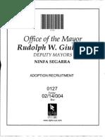 Box 02-14-004 Folder 0127 (Adoption Recruitment, Eliminating Certain Private Agencies) June 1996