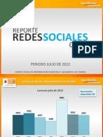 Reporte Redes Sociales Julio 2012