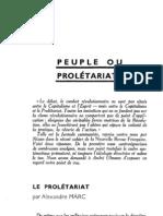 Esprit 4 - 4 - 193301 - Peuple ou Prolétariat