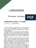 Esprit 4-11-193301 - Courthion, Pierre - Tendances Dans Le Chaos