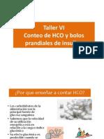 Taller VI Conteo de HCO y bolos prandiales de insulina