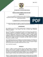 Resolucion 2652 de 2004