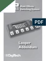 RP500 Looper Addendum