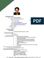 Curriculum Europeo di Francesco Zingone