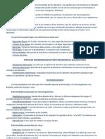 Esquemas y Resumen Examen Contaminantes y Microorganismos