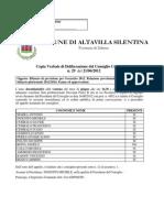 Bilancio previsionale 2012 del Comune di Altavilla Silentina