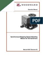 Sync Step Speed Adj Motor for UG Govs 03027_B