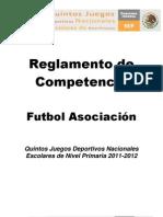 Reglamento Futbol Asociación 5°JDE