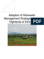 adoption of rwm strategies in the ethiopian highlands