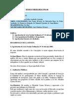 SESION ORDINARIA N 01-06