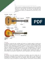 estructura de una guitarra