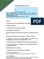 SESION ORDINARIA N 20-06