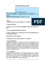 SESION ORDINARIA N 26-06