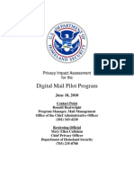Privacy Pia Dhs Digitalmail DHS Privacy Documents for Department-wide Programs 08-2012