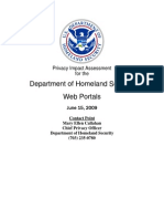 Privacy Pia Dhs Portals DHS Privacy Documents for Department-wide Programs 08-2012