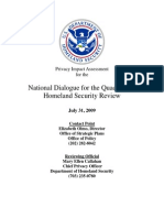 Privacy Pia Dhs Qhsr DHS Privacy Documents for Department-wide Programs 08-2012