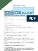 SESION ORDINARIA N 29-06