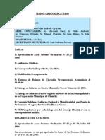 SESION ORDINARIA N 31-06