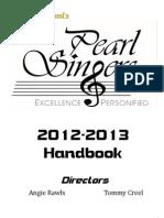 2012-2013 Pearl Singers Handbook