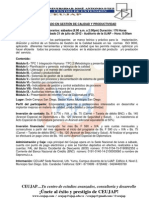 DIPLOMADO EN GESTIÓN DE CALIDAD Y PRODUCTIVIDAD