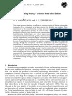 Manufaturing Strategy Auto India