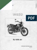 Manuel Atelier Kawasaki W650