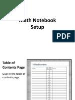 Notebook Set Up