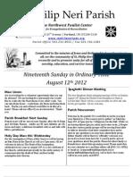 August 12 Bulletin