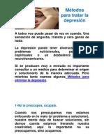 Metodos para tratar la depresion