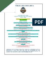 Ley Organica BCCR No7558