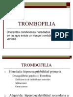Estados de Hipercoagulabilidad y Trombosis