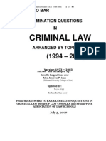 Suggested Answers in Criminal Law Bar Exams 1994 2006