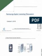Samsung Apple Oct 5 2010 Licensing
