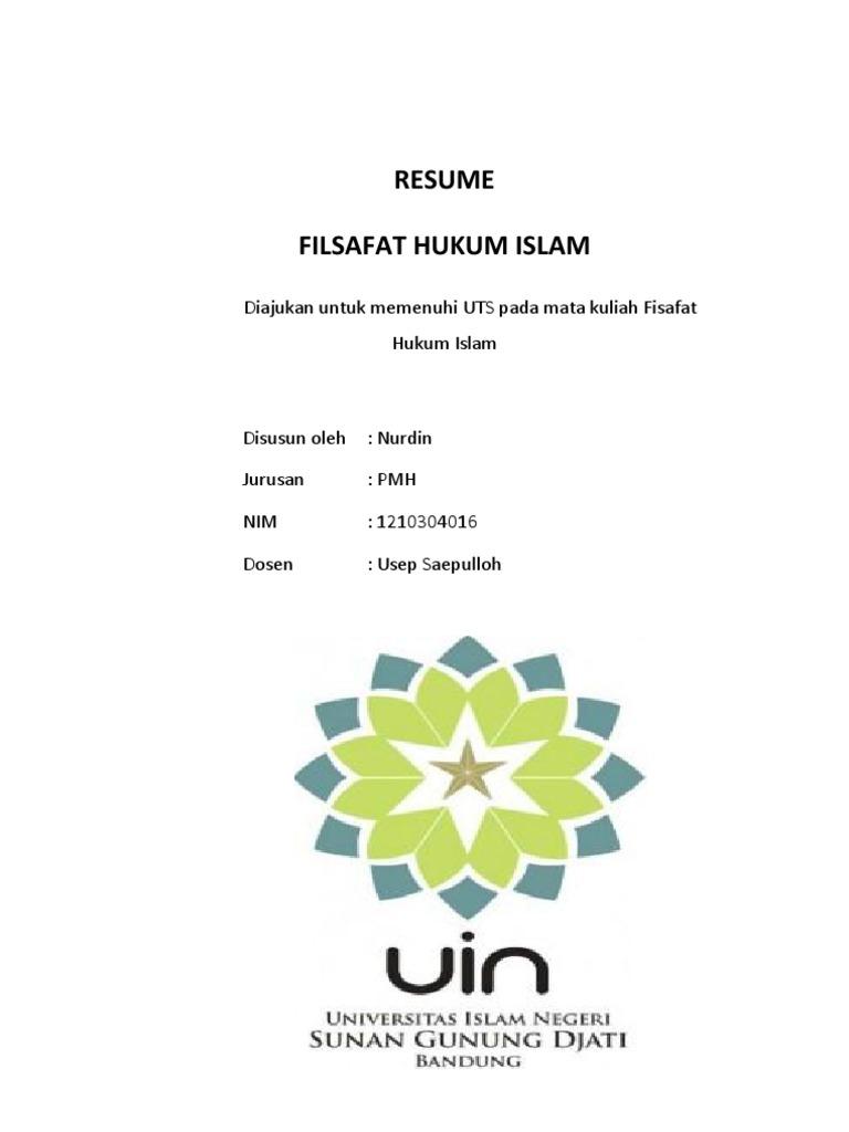 Resume Filsafat Hukum Islam