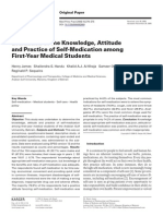 Pengetahuan, Sikap, Dan Tindakan Pengobatan Sendiri Pd Mahasiswa Kedokteran