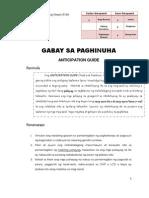 Anticipation Guide-Pagtukoy Sa Detalye (Reading)