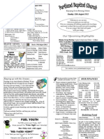 PBC Bulletin - August 12
