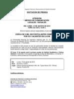 Concurso de Admisión UNI 2012-2 el ingreso será por especialidad y no por canales